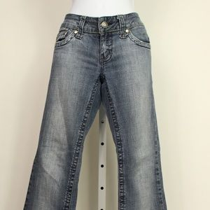 Hydraulic super low metro faded jeans flare